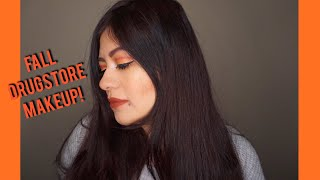 DRUGSTORE FALL W/POP OF COLOR MAKEUP TUTORIAL!