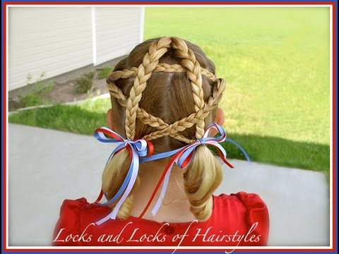 patriotic star 4th of july hairstyle