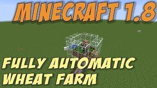 Minecraft 1.8: Fully Automatic Wheat Farm