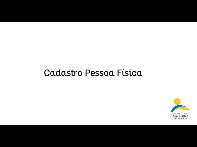 LEI ALDIR BLANC | CADASTRO PESSOA FÍSICA