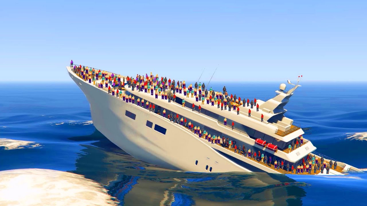 CAN PEOPLE SINK THE YACHT IN GTA YouTube - What was the last cruise ship to sink