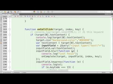 HTML5 - Dynamic Table - IndexedDB