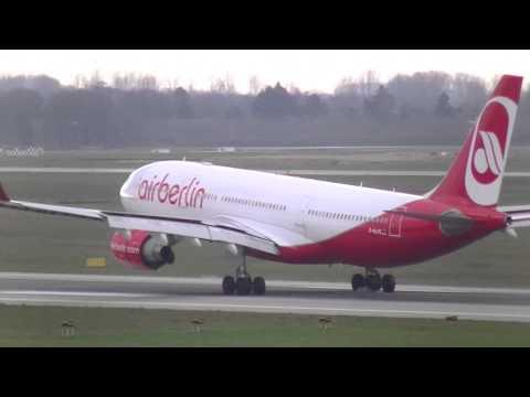 Air Berlin Planes at Düsseldorf Intl. Airport | A330, A319, A320, A321
