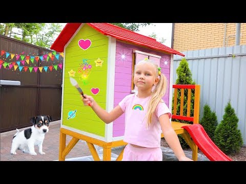 Children's play house for kids with their hands / Playhouse for kids