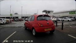 Older driver gets confused whilst driving at Wigan ASDA
