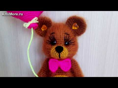 амигуруми схема мишка валентинка игрушки вязаные крючком Free