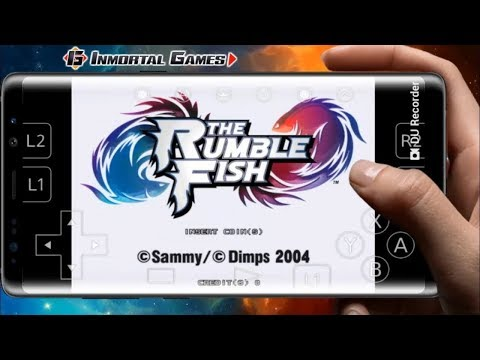 THE RUMBLE FISH EN ANDROID - RETROARCH APK ATOMISWAVE EMULADOR - DOWNLOAD AND GAME TEST