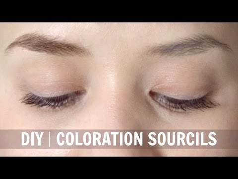 diy coloration sourcils naturellealyssia - Coloration Sourcil