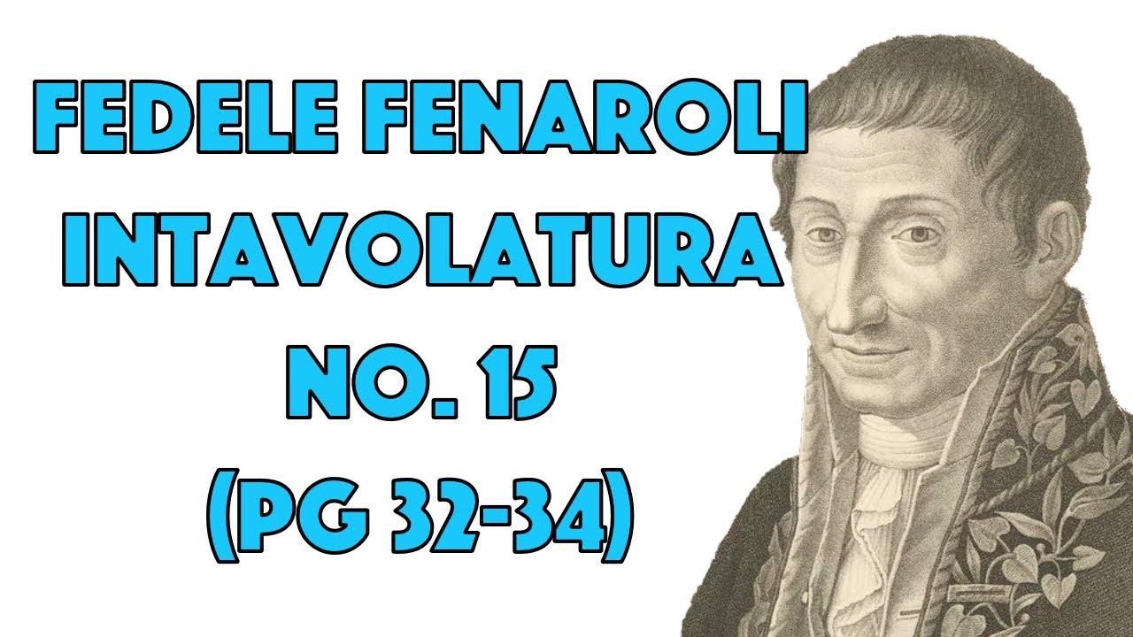 Intavolatura No. 15 (pg. 32-34) by Fedele Fenaroli