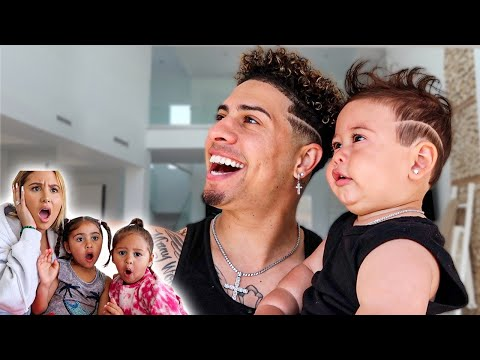 TRANSFORMING MY SON INTO ME FOR THE DAY!!! **HILARIOUS FAMILY REACTION**