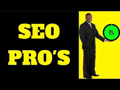 SEO Pro's 🕴️ (Become One of The Top 1 Percent)