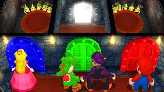 Mario Party 9 MiniGames Yoshi Vs Mario Vs Waluigi Vs Peach (Master Difficulty)