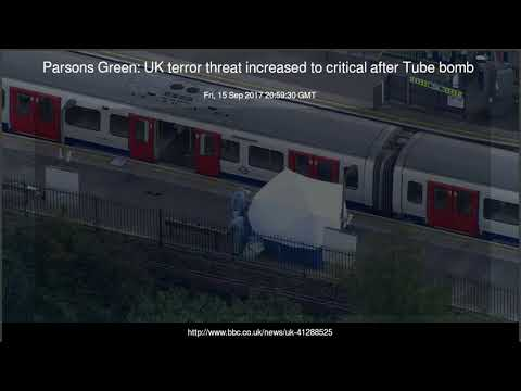 Parsons Green UK terror threat increased to critical after Tube bomb