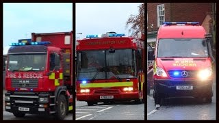Fire trucks responding compilation - Special fire appliances