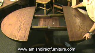 Pedestal Table Geared Slides In Action