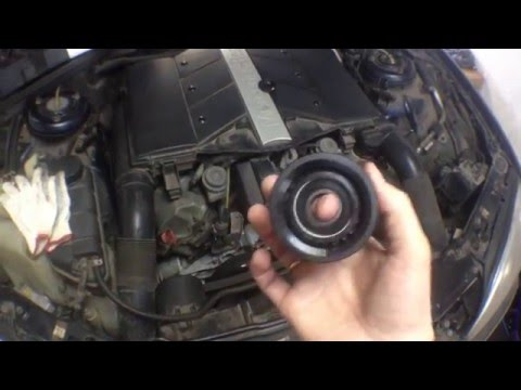 как натянуть ремень на мерседесе 271 двигатель