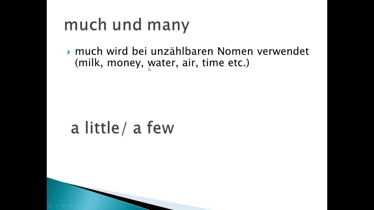 much und many regel