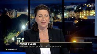 Agnès Buzyn, ministre des Solidarités et de la Santé, invitée du Guyane Soir