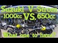Suzuki V-Strom 1000cc vs. 650cc review