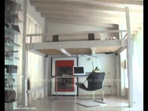 Cama alta cama abatible youtube for Estructura de cama alta ikea