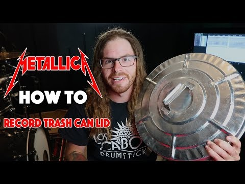 How To Get ST ANGER Snare Drum Sound with lid of trash can
