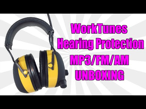 WorkTunes Hearing Protection MP3/AM/FM Tuner Unboxing