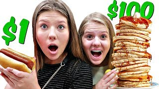 24 Hours SURVIVING on a Food Budget ROUND 2 | Taylor & Vanessa