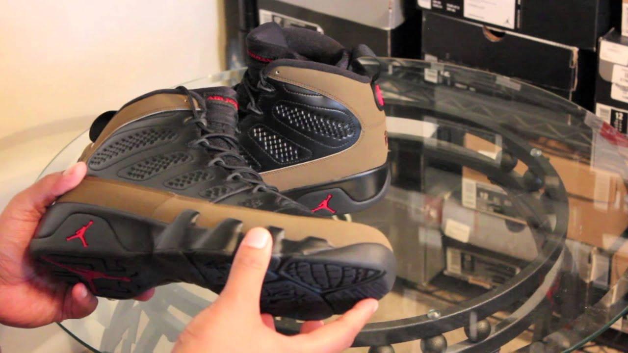 lowest price 4c104 e3fa3 Jordan Retro 9 IX Olive 2012 + On Feet Review