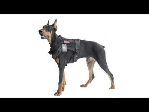 268a0a99474 OneTigris Tactical Dog Molle Vest Harness Training Dog Vest with Detachable  Pouc.
