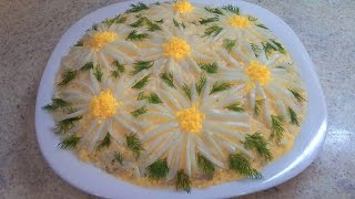 """Салат""""Ромашка"""" рецепт - ВКУСНЫЙ- Salad """" Daisy"""""""