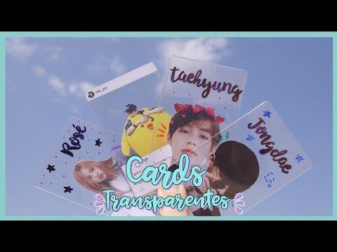 K-POP DIY: Make your own transparent cards of your favorite groups