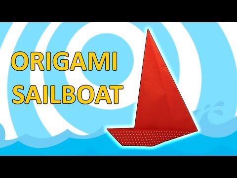 Origami Sailboat ⛵ Easy Folding Instruction ⛵