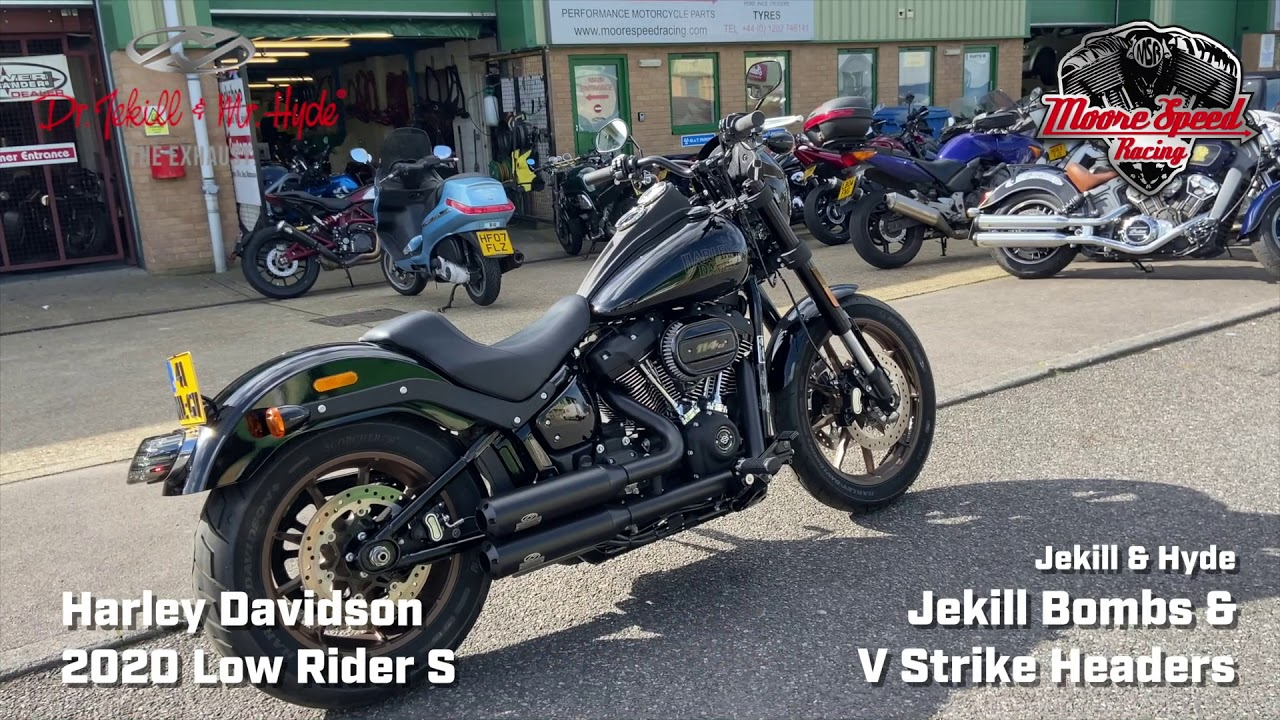 harley davidson low rider s with jekill hyde full exhaust system at idle on dyno sound demo clip