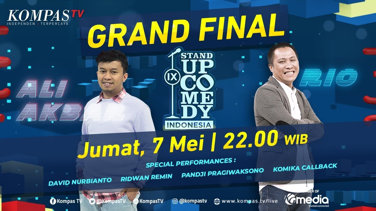 [LIVE] Stand Up Comedy Indonesia (SUCI IX) - GRAND FINAL | Ali Akbar Vs Rio Dumatubun