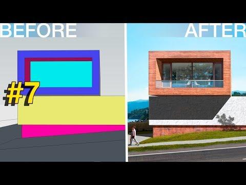 Photoshop Architecture Visualization #7 Modern house in Brasilia
