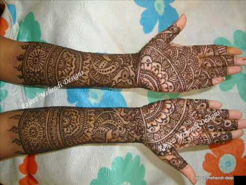 Mehndi Design For Bridal Collection : Bridal mehendi designs complete collections wmv youtube