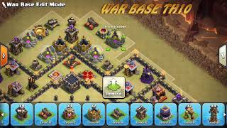 Th11 FAILED!! BEST TH10 WAR BASE ANTI 2STAR COC TH10 ANTI AIR AND GROUND😍😍😍😍