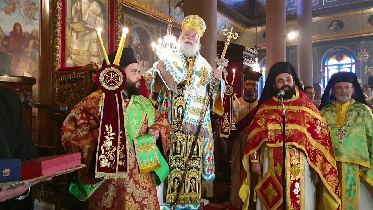 Αποτέλεσμα εικόνας για Ο Πατριάρχης Θεόδωρος καλοσωρίζει τον Κόπτη Πατριάρχη ανήμερα των Χριστουγέννων