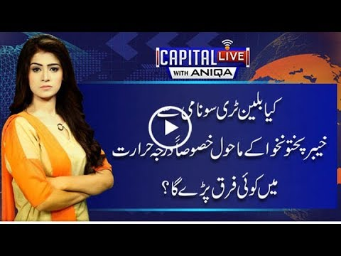 Will billion tree Tsunami effect temperature of KP? - Capital Live With Aniqa 14 November 2017