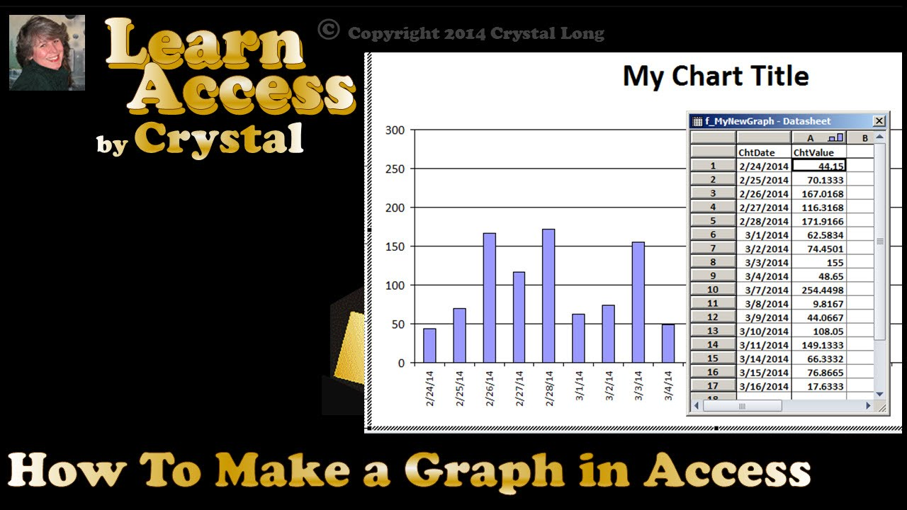 How To Make a Graph with Microsoft Access (cc)