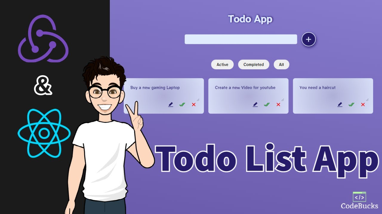Building a Todo List App with Redux 😍   ( React-Redux ) Tutorial For Beginners