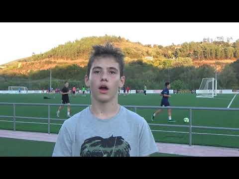 Diego del infantil A Ourense CF de Liga Gallega