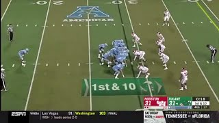 Tulane Crazy Fake Kneel Trick Play vs Houston (2019)
