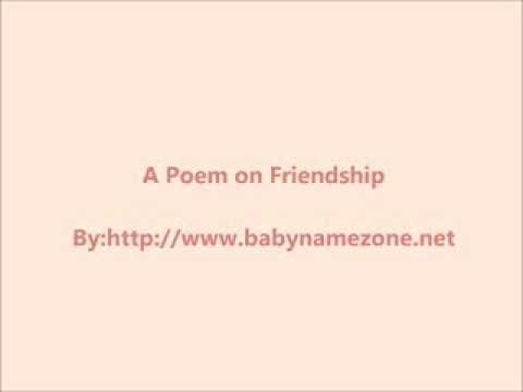 A Poem on Friendship