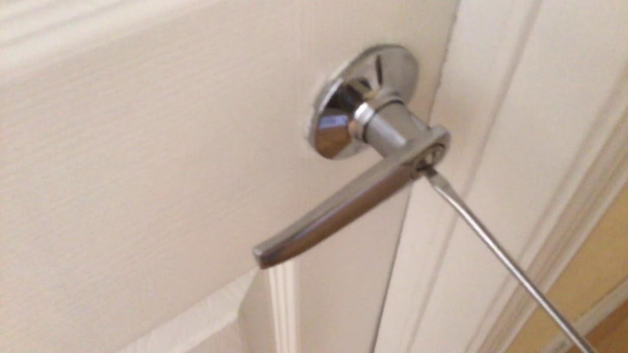 how to lock and unlock bathroom door  youtube