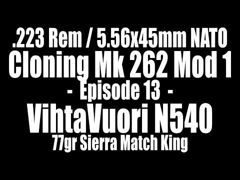 .223 Rem - 77gr Sierra Match King with VihtaVuori N540