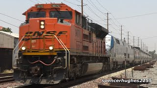 Amtrak Southwest Chief BNSF SD70ACe LEADER! & More..