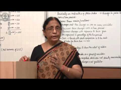 Meaning and Basic Elements of Index Number Class XI Economics by Manju goyal