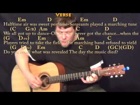 american pie don mclean fingerstyle guitar cover lesson with chords lyrics youtube. Black Bedroom Furniture Sets. Home Design Ideas