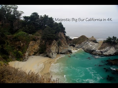 Majestic Big Sur California from the air in 4K